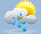 rain shwrs, winds: 5kph calm, windchill: 10°c, Rain: 10