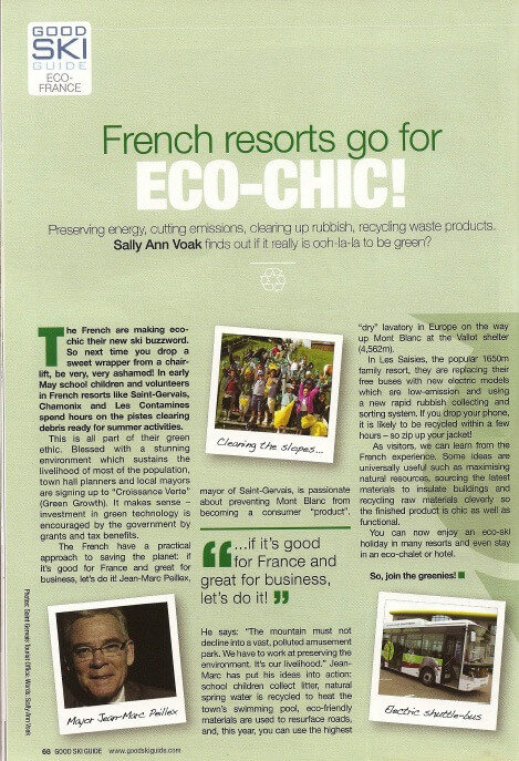 Good Ski Guide 2011 - Alps Accommodation - Chalet Le Kiwi Vert