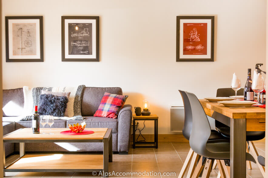 Apartment Bel Air Samoens Spacious open plan layout featuring charming details
