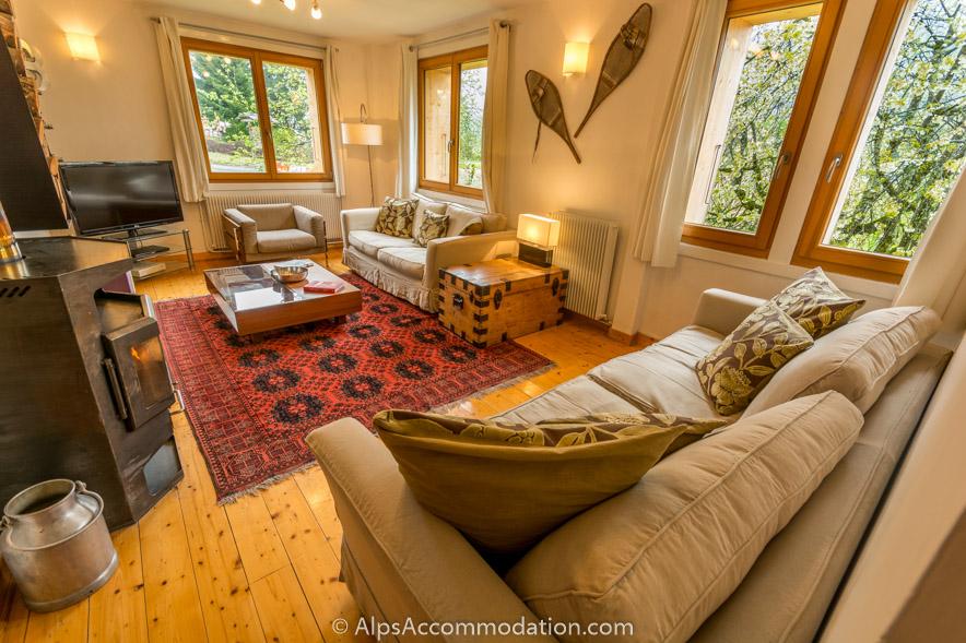 Chalet beziere samoens chalet de 6 chambres avec for Piscine samoens