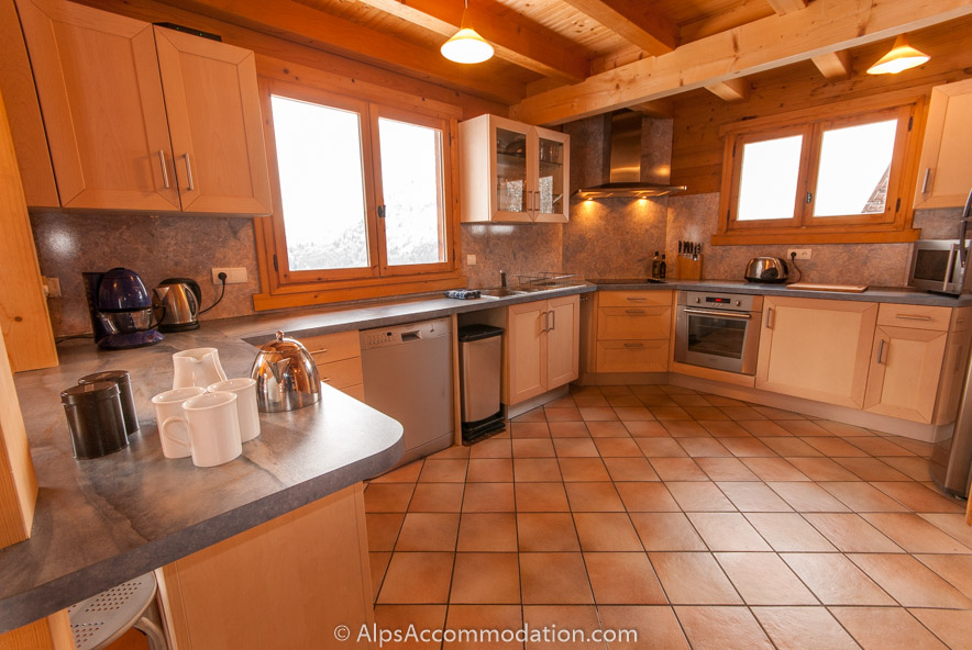 Chalet sisu sixt fer a cheval large and well equipped kitchen