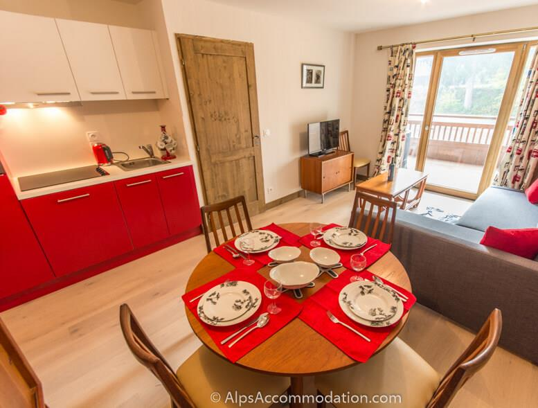 Apartment Les Niveoles B8 Morillon Fully equipped kitchen with high quality appliances