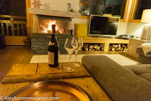 Chalet Vercland Samoens Relax in front of the fire with a glass of wine