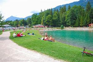 Enjoy a relaxing dip in Lac Bleu, Morillon