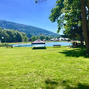 Lac Bleu in Morillon is a perfect location for families and adults alike