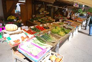 Fresh produce in the local shops and markets