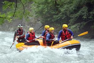 Rafting in Samoens