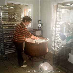 Part of the cheese production process