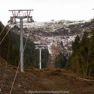 At more than 2.5km long, it's the longest chairlift of it's kind in Europe.