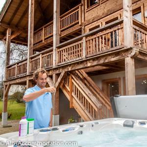 Serviced hot tubs and pools