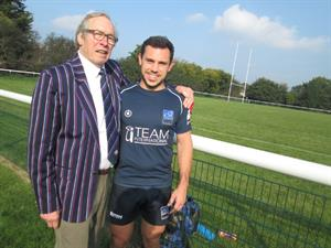 Nick Cherry with Pat Ward-Lee, Honorary Life Member of Brighton Rugby Club