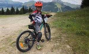 Excellent family friendly mountain biking in Les Gets.