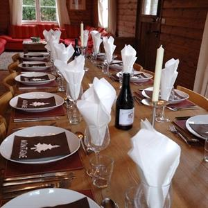 Delicious meals in your own chalet