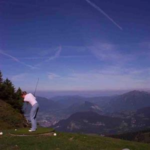 Swing at Flaine Golf Course