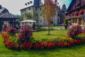 Spectacular flowers behind the Mairie de Samoens
