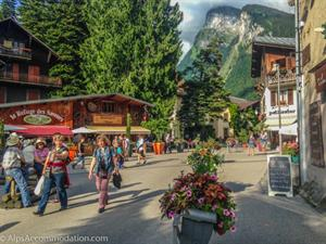 The beautiful centre of Samoens village