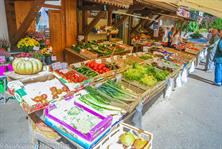 Weekly market in Samoens and Morillon