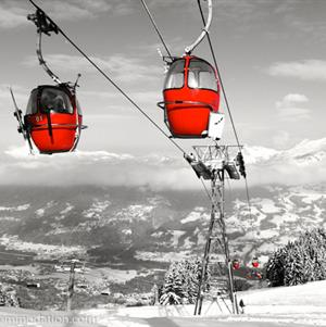 The old Vercland Gondola in Samoens, Grand Massif