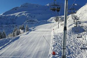 Perfect pistes in the Grand Massif