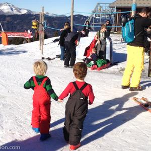 Family friendly ski area